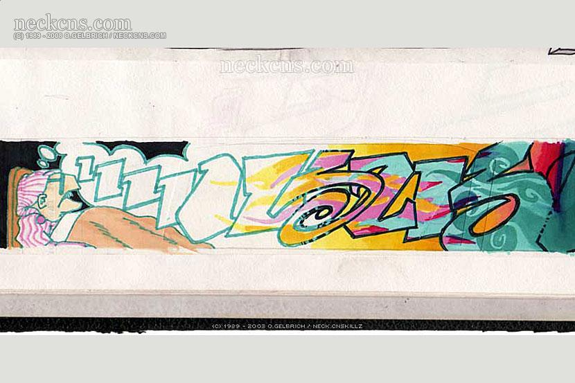 Felt pen on paper, 1995
