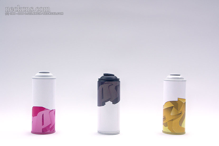 Depth Style Cans: Pink, Black, Yellow