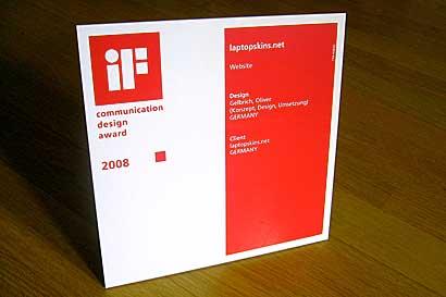 laptopskins.net wins if communcation design award