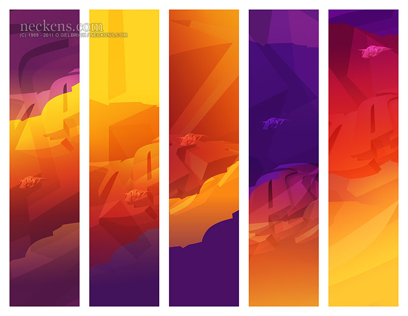 Making rainbows: Sunset